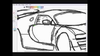How to Draw a Bugatti Veyron in MSPaint (Super-Sport)