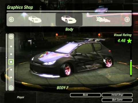 Nfs Underground 2 Peugeot 206 Tuning Youtube