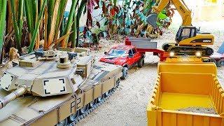 탱크, 포크레인 중장비 트럭 자동차 장난감 구출놀이 T…
