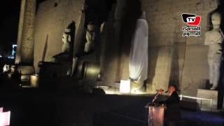 بحضور وزير الآثار.. إزاحة الستار عن تمثال رمسيس الثاني بمعبد أبو سمبل