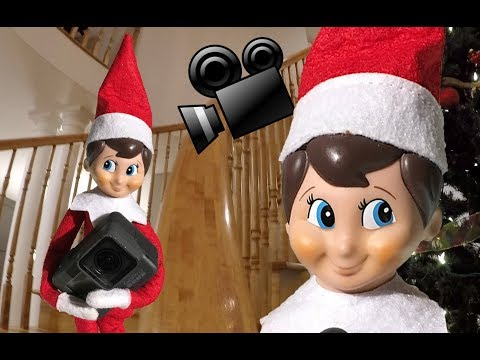 🎅🏼 Our ELF on the SHELF Made his own GoPro MOVIE!  🎅🏼