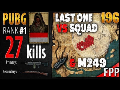 [Eng Sub] PUBG Rank 1 - Mishotta 27 kills [AS] SQUAD FPP - PLAYERUNKNOWN'S BATTLEGROUNDS #196