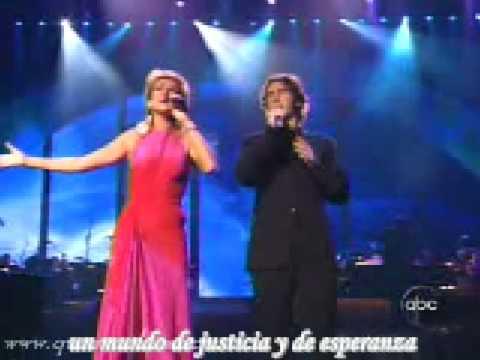 Celine & Josh Groban live   the prayer (en español)