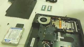 How to disassemble the Lenovo G560, replace the memory, hard drive, fan cleanup