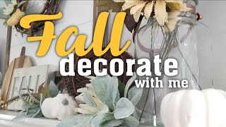 Fall decorate with me: decorating my home for Fall