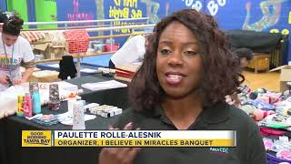 """The """"I Believe in Miracles"""" banquet for the homeless is being held ..."""