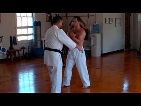 Uechi-Ryu Sensei Charles Quimby, demonstrates Sanchin kata.