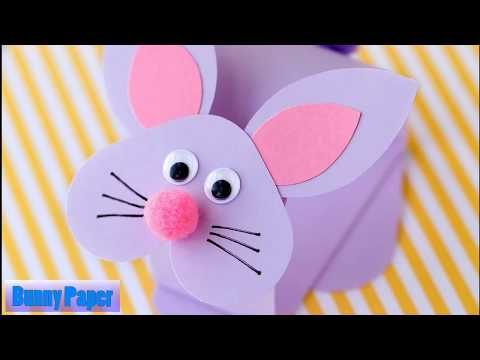 Paper Bobble Head Bunny     Paper Cutting Bunny     DIY Father's Day Bunny Card