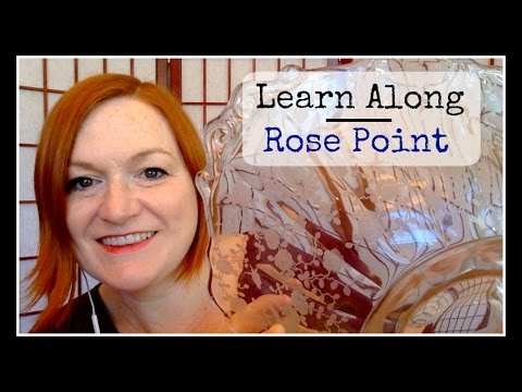 Learn Along - Cambridge Rose Point Glass / Rosepoint Crystal