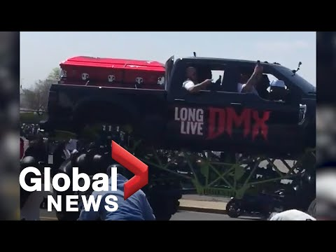 DMX funeral procession shuts down traffic in New York City