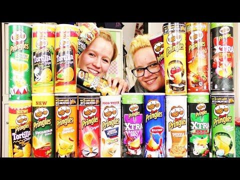 MEGA PRINGLES CHALLENGE | mit 21 Sorten Pringles & KAAN als Special Guest | Wer erkennt mehr?!