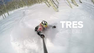 4K - Backcountry Powder Skiing - Circle All Peak Utah