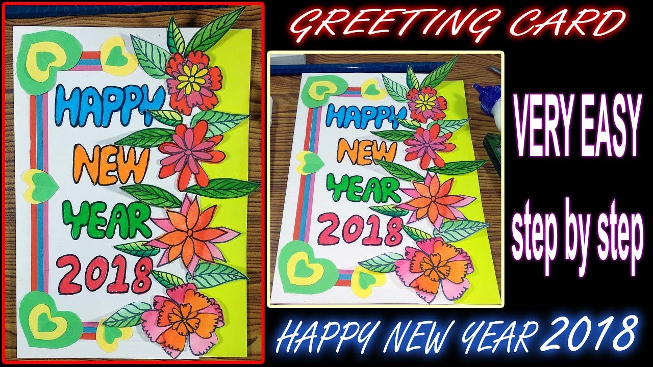 Greeting cards for new year how to make a new year card easy greeting cards for new year how to make a new year card easy step by step 20 kristyandbryce Gallery