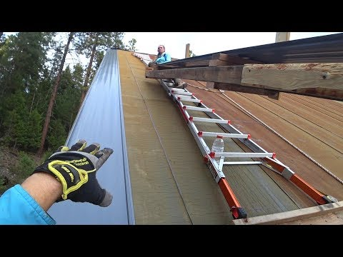 FIRST PANEL… BOOM! (Hidden Hardware Metal Roof Install)