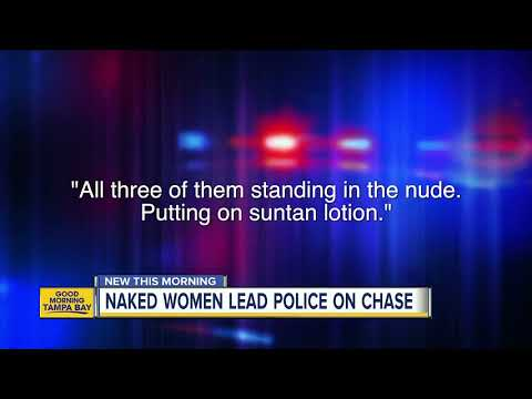 Crash Mornings - 3 Naked Women Spotted At Rest Stop, Lead Cops On Chaotic Chase