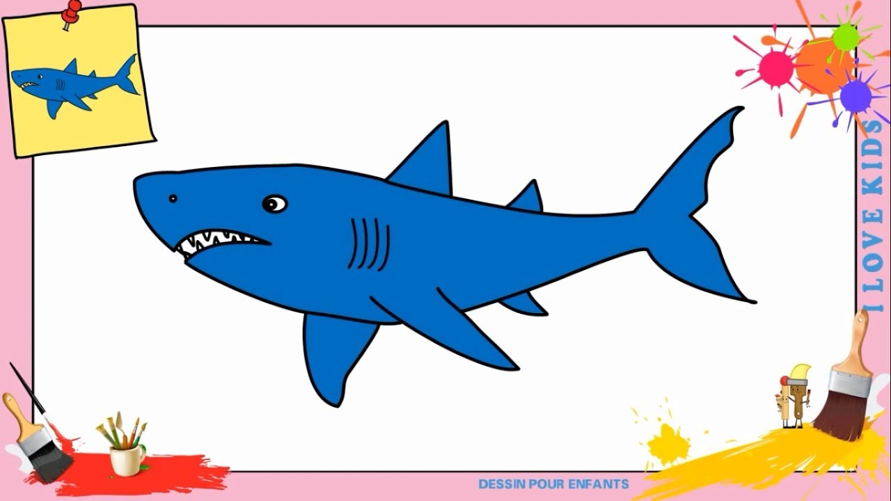 Dessin requin 2 facile comment dessiner requin facilement etape par etape youtube - Requin a dessiner ...