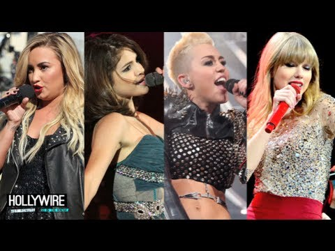 Selena Vs. Miley Vs. Taylor Vs. Demi: Best Single!? (Teen Choice Awards)