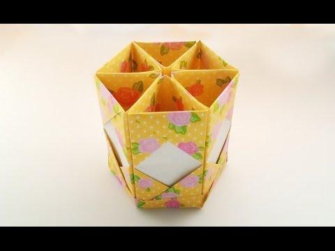 How to make a pen box / ทำกล่องปากกา