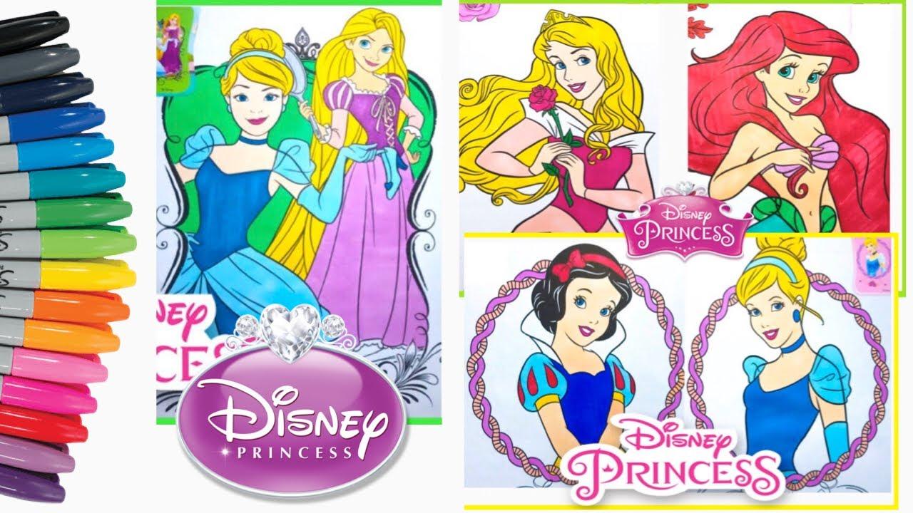 - Mewarnai Disney Princess Coloring Book Compilation Disney