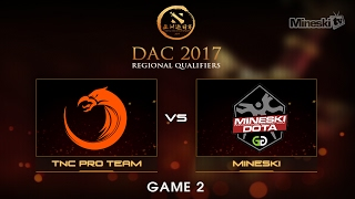 Mineski vs TNC Pro Team  | Dota 2 Asia Championship | Group Stage | Best of 3 | Game 2(Series Link: Help us promote eSports! Subscribe: http://bit.ly/1ALBjGb Stream: http://twitch.tv/mineskitv Like us on Facebook: ..., 2017-02-05T09:10:35.000Z)