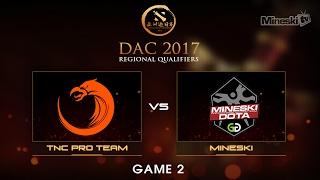 Mineski vs TNC Pro Team    Dota 2 Asia Championship   Group Stage   Best of 3   Game 2(Series Link: Help us promote eSports! Subscribe: http://bit.ly/1ALBjGb Stream: http://twitch.tv/mineskitv Like us on Facebook: ..., 2017-02-05T09:10:35.000Z)