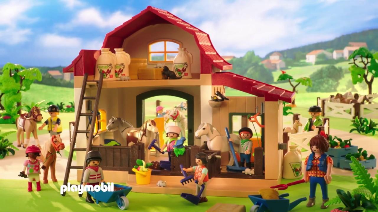 playmobil le poney club fran ais youtube. Black Bedroom Furniture Sets. Home Design Ideas