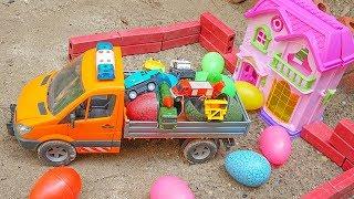 Surprise Eggs Toys الحفار, الجرار, سيارة ا...