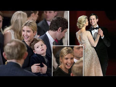 Ivanka Trump goes casual with loose-tied hair and plain dress as she attends White House swearing