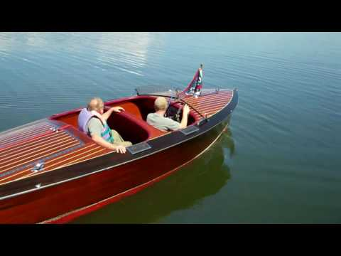 1938 Chris Craft Double Cockpit Forward Custom Runabout on Lake Champlain 8 3 2016