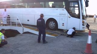Mohammad getting Bus 2 off the ferry