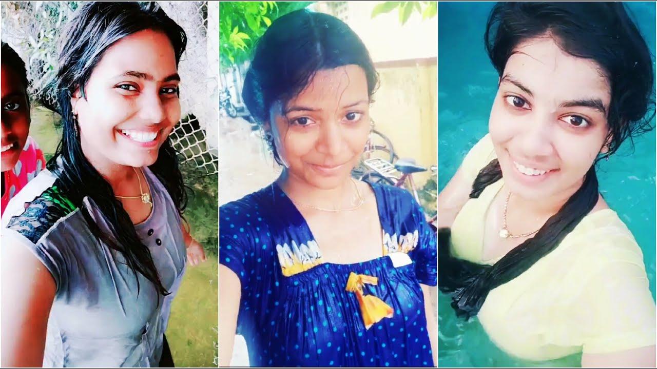 Download 💞 Tamil 👧 Girls 🙈 Bath 😍 Tik Tok 😂 Videos   Tamil Girl Bath   Tamil Girl Wet Hot Swim Dress