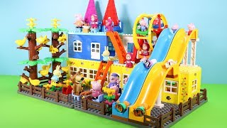 Peppa Pig Building Blocks House Toys For Kids - Lego Duplo House With Water Slide Creations Toys #7