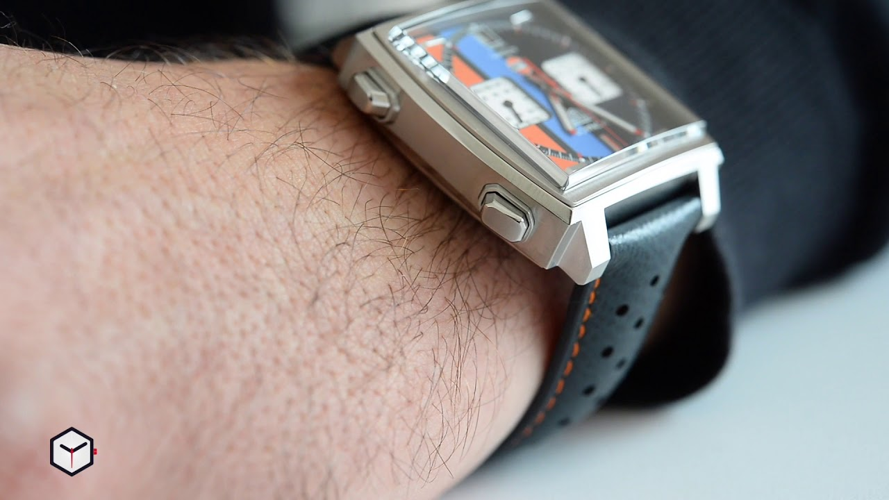 c4f98f316 TAG Heuer Monaco Gulf Special Edition 50th Anniversary Video Review [Englis  Sub]