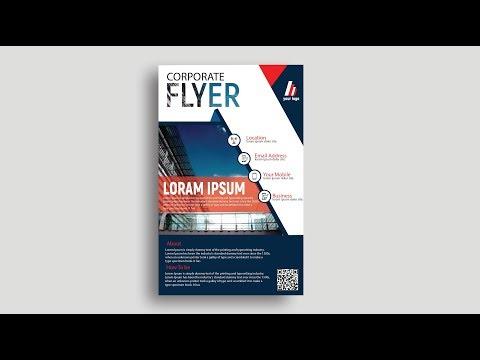 how to design a flyer in adobe illustrator cs6 | Flyer Design | How To make a flyer thumbnail