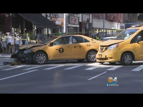 Cabs Crash Into People In New York