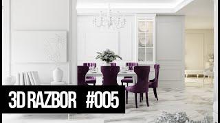 Как улучшить визуализацию интерьера | 3D RAZBOR #005 | Прямой эфир 22 апреля