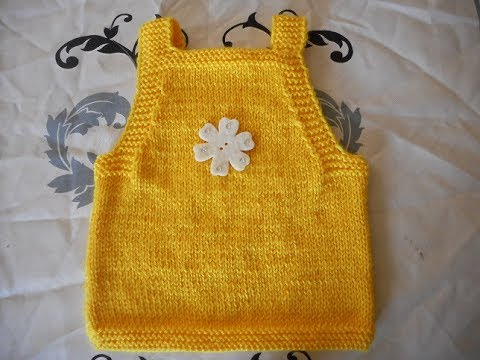 tuto tricot debardeur bébé parti 1 - YouTube