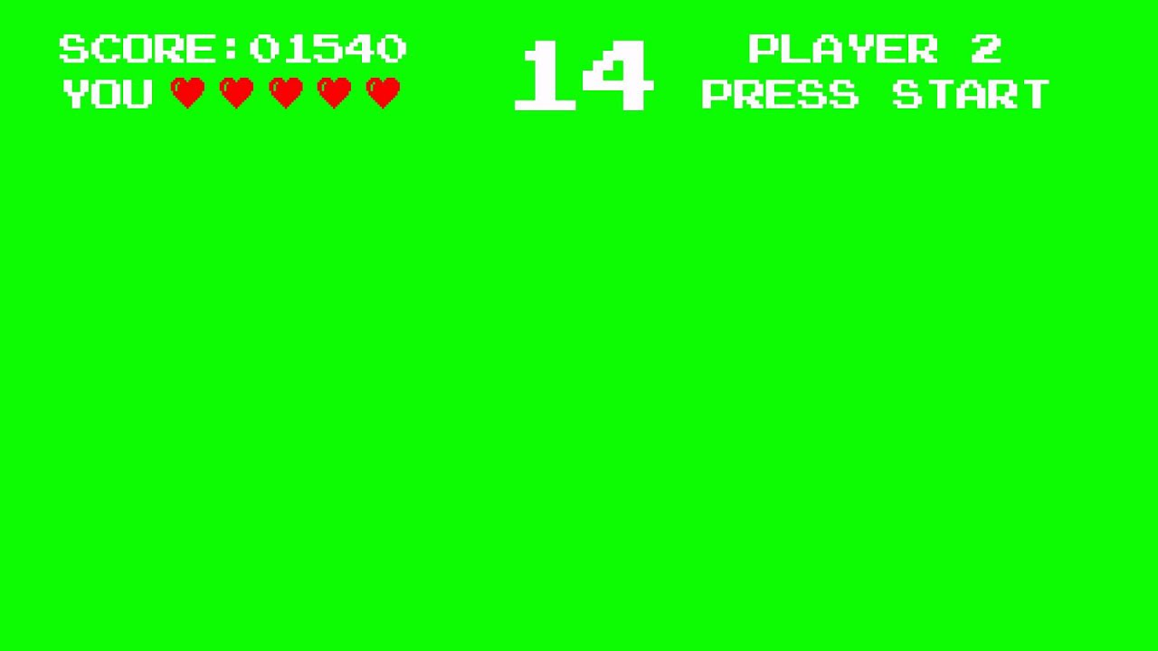 Vintage Arcade Games >> Old Video Game Arcade Look Green Screen Animation - YouTube