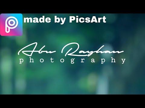 PicsArt logo tutorial || how to make easy signature logo by PicsArt 2018