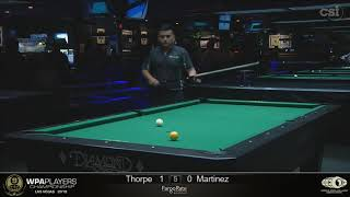 Billy Thorpe vs Gerson Martinez: 2019 WPA Players Championship Consolation Event