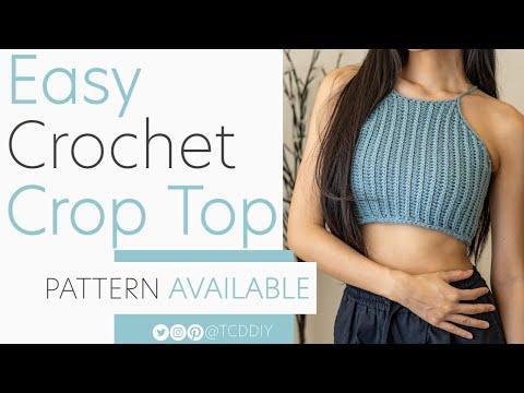 EASY Crochet Crop Top | Pattern \u0026 Tutorial DIY