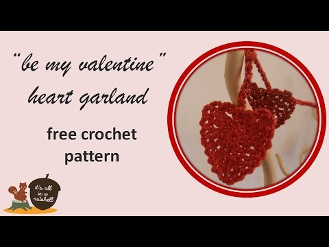 Be My Valentine Crochet Heart Garland Free Pattern Us Terms