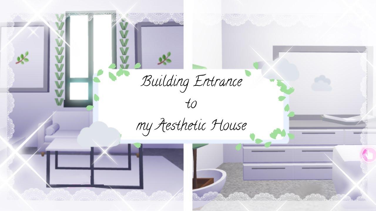 Adopt Me Aesthetic Futuristic House Speedbuild Pt 3 Entrance Youtube
