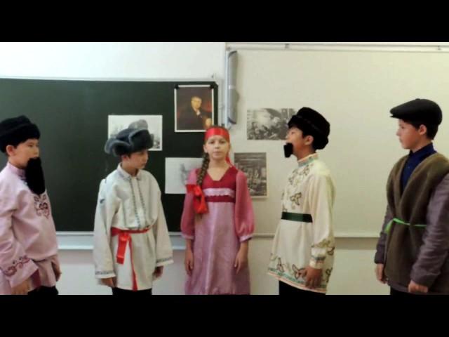 Изображение предпросмотра прочтения – «5 класс» читают произведение «Крестьянин в беде» И.А.Крылова