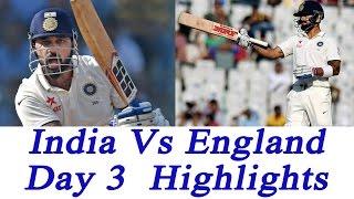india vs england 4th test 3rd day highlights virat kohli shines through   oneindia news