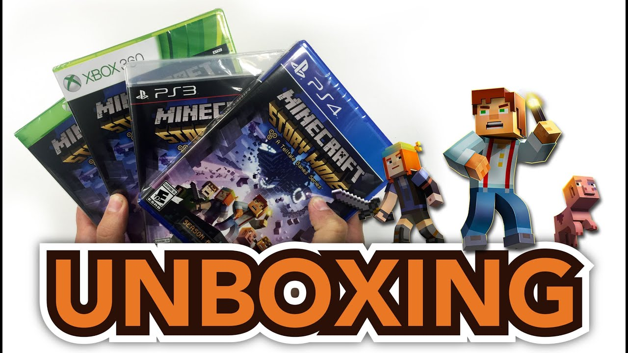 Minecraft: Story Mode (PS4 /PS3 /Xbox One/ Xbox 360) Unboxing!!!!