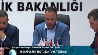 ASGARİ ÜCRET BRÜT 2620 TL'YE YÜKSELDİ Video