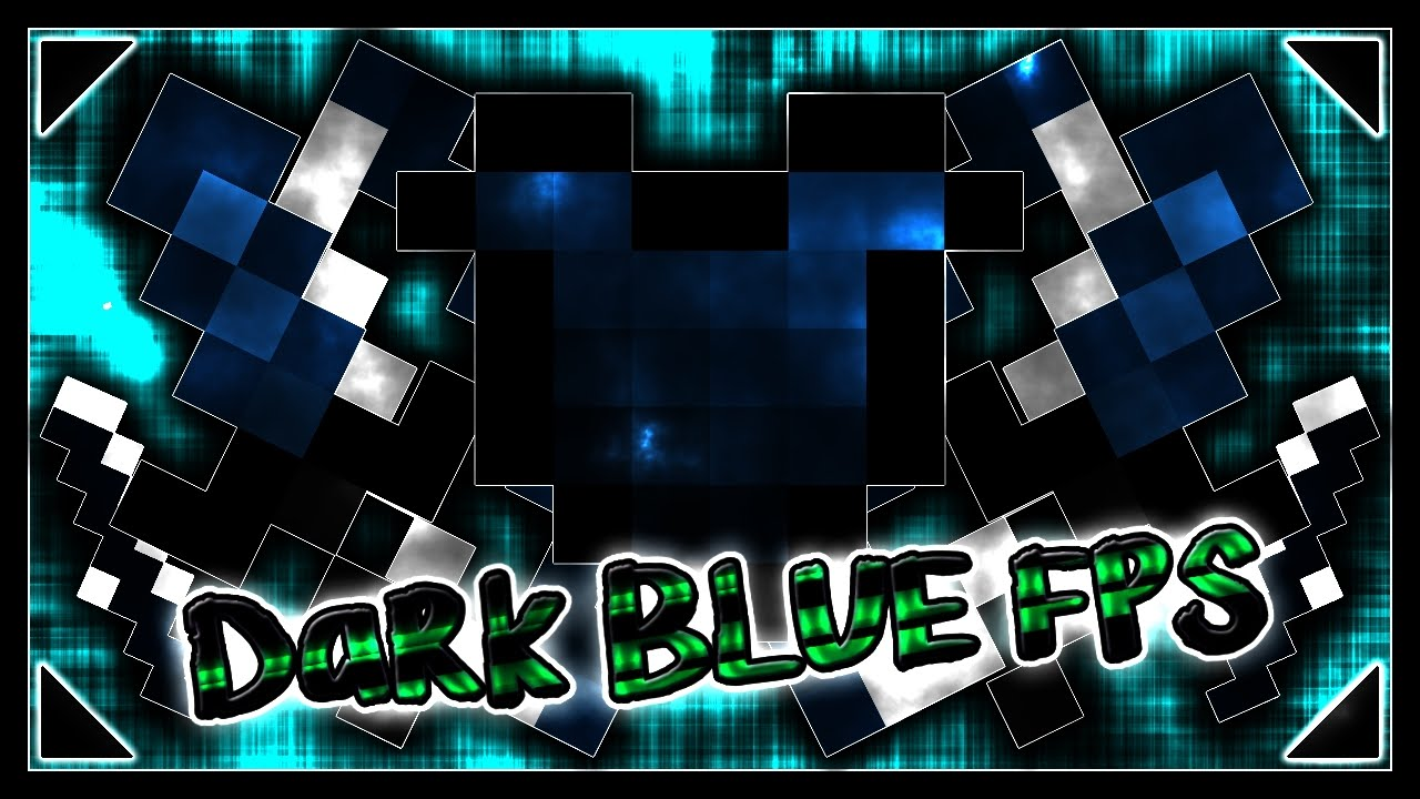 MINECRAFT PVP TEXTURE PACK - TINY DARK BLUE 8X8 UHC BOOST FPS+++ - YouTube