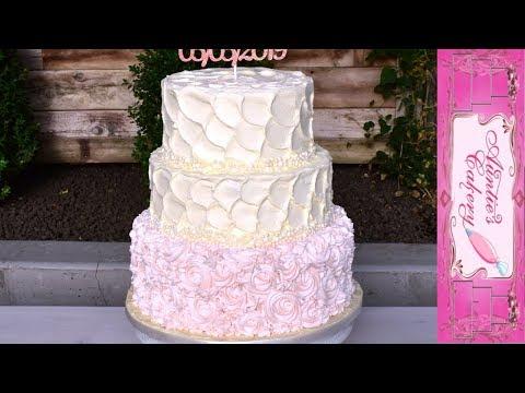 blush-pink-rosette-wedding-cake