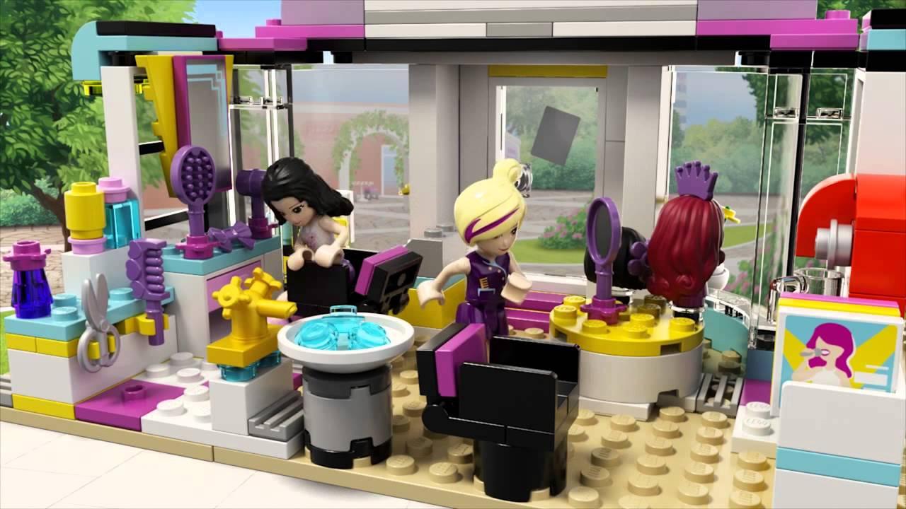 Lego Friends 41093 Salon Fryzjerski Heartlake Youtube